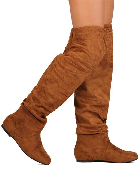 shoes refresh gk34 faux suede the knee slouchy boot