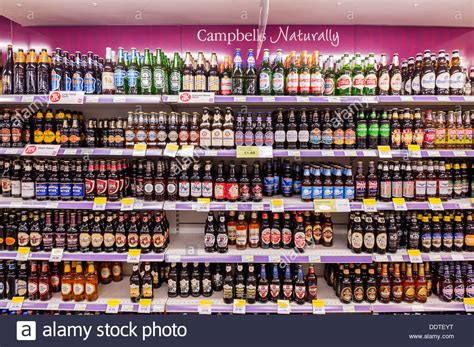 and lager and ale for sale on the shelf in a