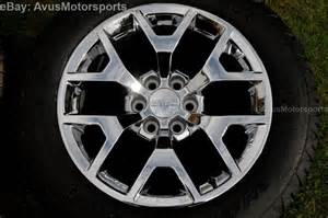 20 Inch Wheels For Gmc Truck 2014 Gmc 20 Quot Oem Chrome Wheels Tires Chevy Tahoe