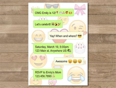 Whatsapp Design Vorlage Emoji Druckbare Geburtstag Geburtstagseinladung Einladung