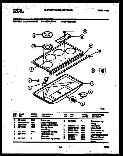 tappan 14 3632 23 06 gas cooktop 5995231981 parts and