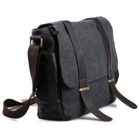 Tas Bag Black Mumer Slempang tas selempang pria korean canvas messenger bag black gray jakartanotebook