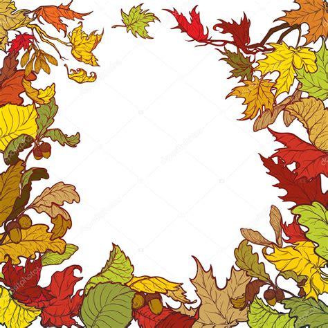 cornice autunno foglie di autunno cornice quadrata dai colori vivaci