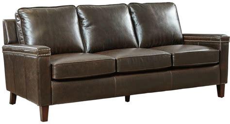 mocha leather sofa magnus mocha signature leather sofa from lazzaro coleman