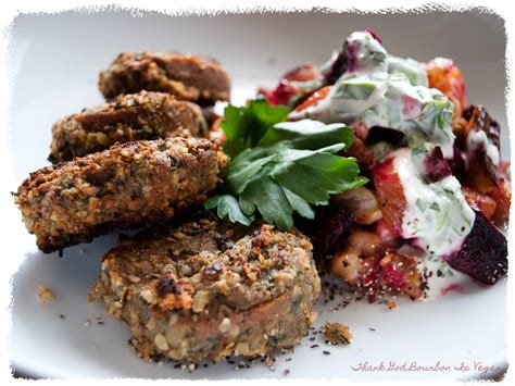Light Walnut By Minimarket Vegan thank god bourbon is vegan walnut herb crusted seitan