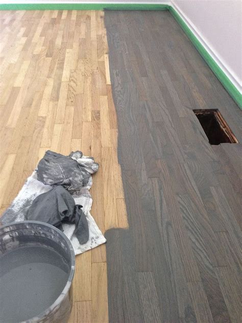 oak floor stained blue grey gray hardwood floor stain