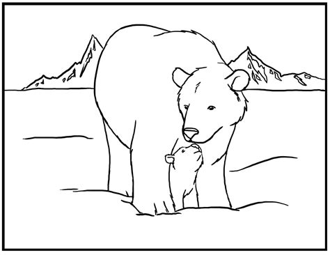 coloring pages arctic animals polar animals coloring pages printable kids coloring