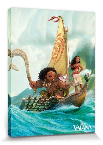 moana boat uk moana with maui on a boat trip stretched canvas prints