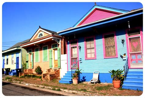 New Orleans Colorful Houses | great american road trip adieu new orleans for now