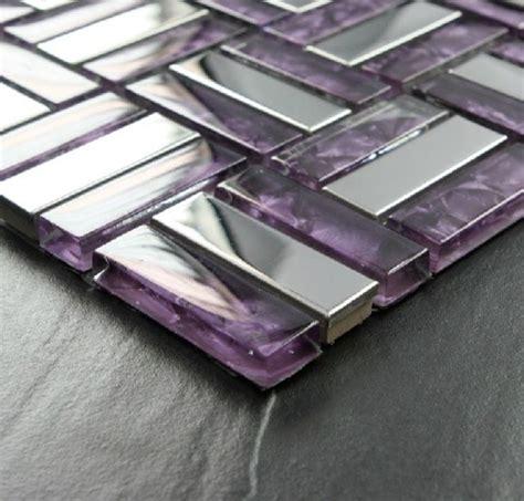 purple kitchen backsplash stainless steel tile glass tiles glass mosaic bathroom