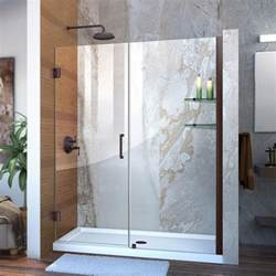 unidoor shower door dreamline unidoor 55 to 56 in x 72 in semi framed hinged