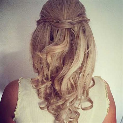 wedding hair half up half curls 30 best half up curly hairstyles hairstyles haircuts