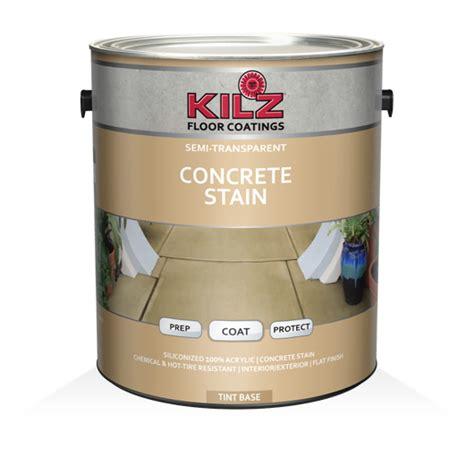 kilz semi transparent concrete stain primers specialty