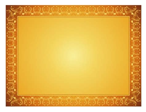 certificate border template free best photos of gold certificate templates gold award