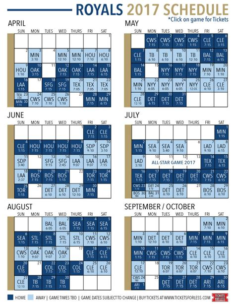 printable kansas city royals baseball schedule 2018 st louis cardinals regular season printable schedule 2017