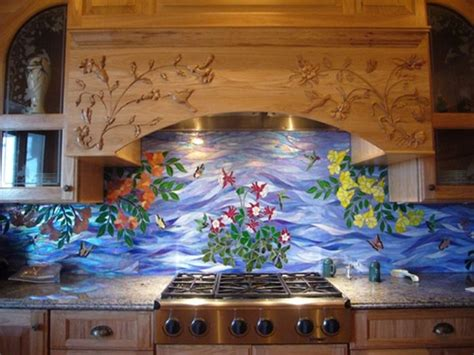 Hand Made Kitchen Range Hood/Island Carving by Wood