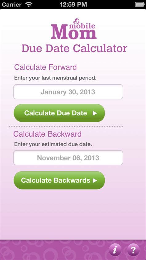 pregnancy due date calculator  baby wheel countdown