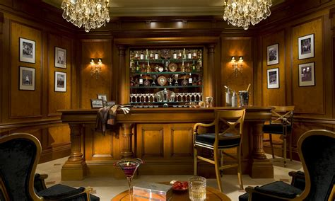 luxury home bars design yew antique luster paneling and