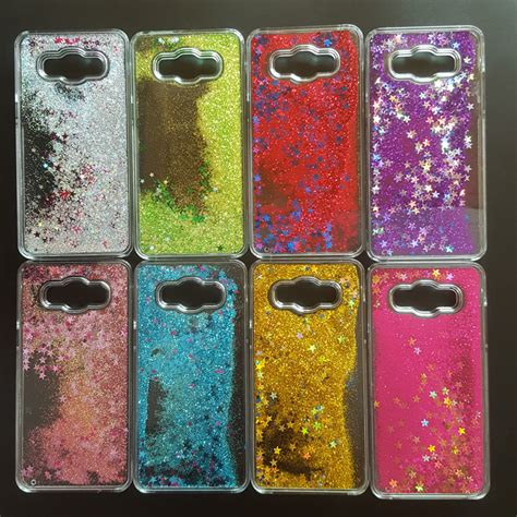 Water Glitter Samsung Galaxy J5 2016 J510 clear glitter paillette sand flowing water