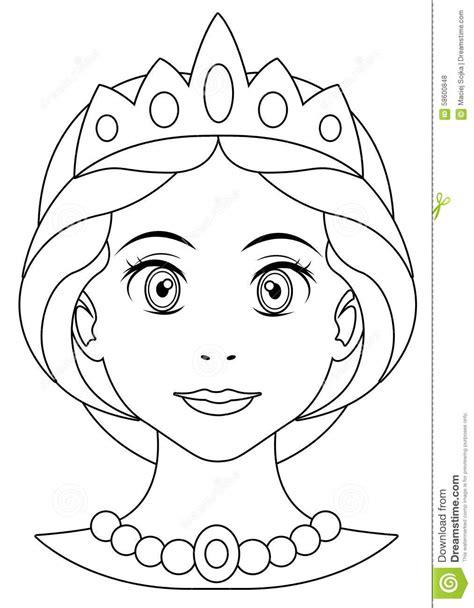 cartoon princess coloring page stock illustration image
