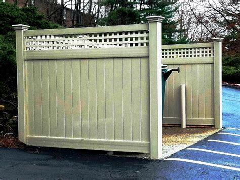 dumpster enclosure dumpster enclosures commercial fencing salem fence baldwin place ny