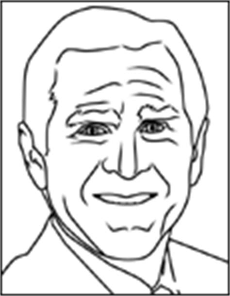 George W Bush Coloring Page by George W Bush Coloring Page Coloring Pages