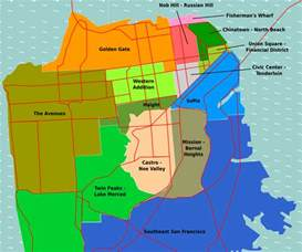 Map Of San Francisco Districts by Pics Photos Districts Map San Francisco Maps