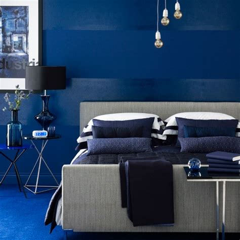 vivid blue bedroom indigo blue colour schemes home