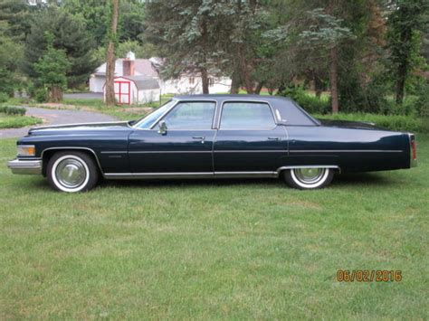 Fleetwood Cadillac Brougham 1976 Cadillac Fleetwood Brougham Commodore Blue