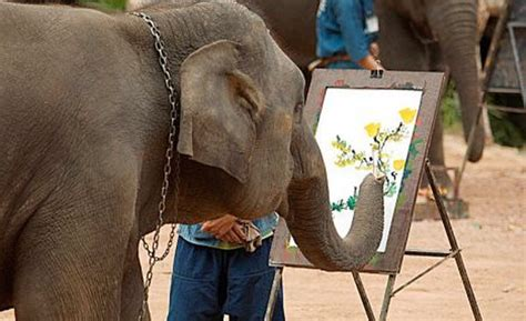 painting elephant elephant painting a portrait real or hoax