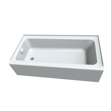 right hand bathtub american standard sonoma white acrylic rectangular alcove
