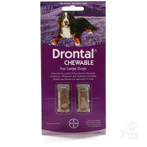 drontal for dogs drontal chewable wormer for dogs 20 35kg