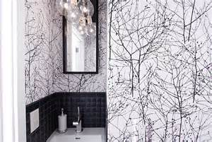 Designer Bathroom Wallpaper Bold Wallpaper In A Small Bathroom Decoist