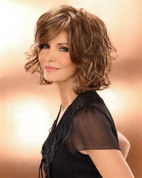 medium short curly hairstyles for older women trendy wavy curly haircuts for older women short