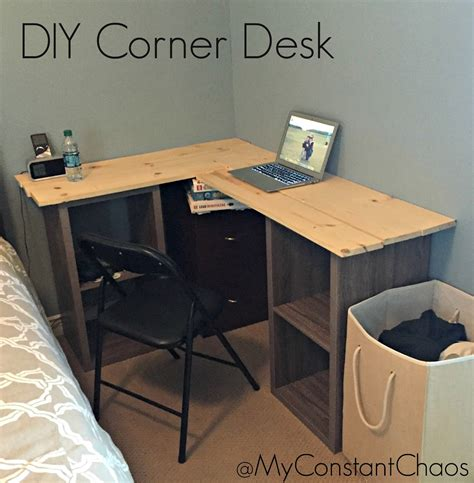 how to make a corner desk my constant chaos diy how to build a corner desk