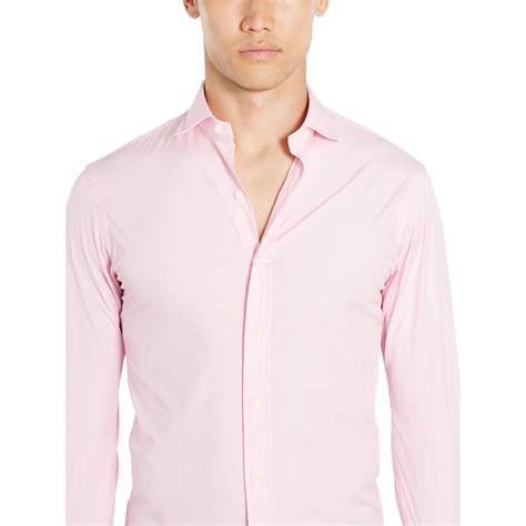 Blouse Qorry Polo Pink polo ralph estate slim fit stretch shirt in pink for lyst