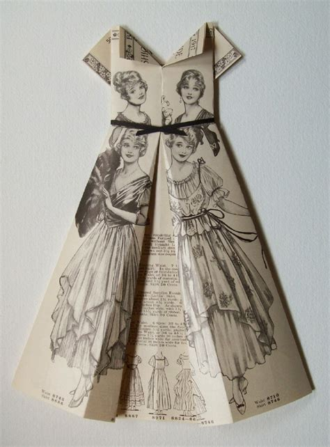 Origami Dress Pattern - belles of the paper dress origami dress evening gown
