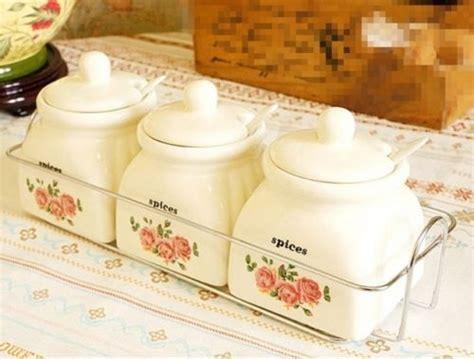 new spice sugar salt pepper new kitchen white rose salt sugar pepper container jar pot