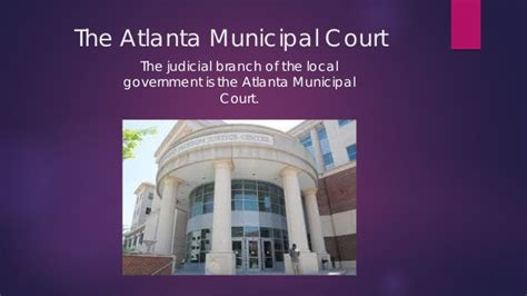 city of atlanta municipal court my government the three branches of government