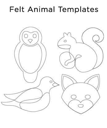felt templates 1000 ideas about animal templates on felt