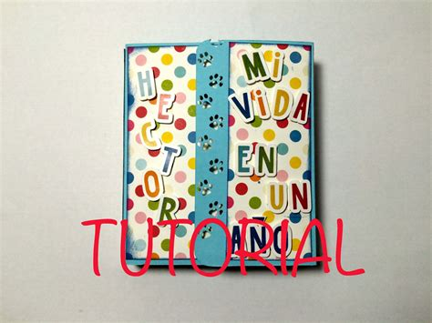 tutorial album de fotos scrapbook diy tutorial mini album ni 241 o paso a paso mini album beb 233