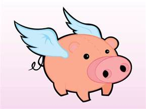 Flying Pig Clipart free coloring pages of flying pigs