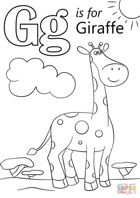 letter    giraffe super coloring giraffe