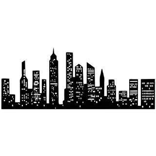cartoon tattoo new york new york city skyline silhouette manhattan tattoo