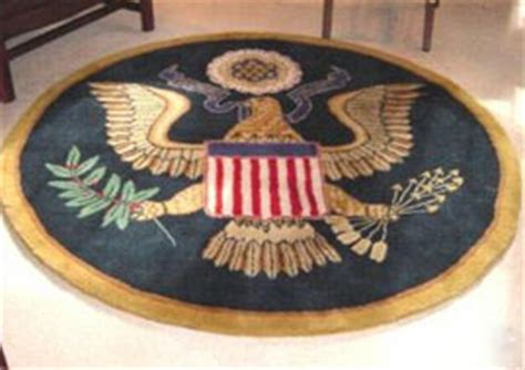 presidential seal rug white house situation room gear