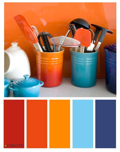 home decor color palettes blue and orange interior design for colorful decor your