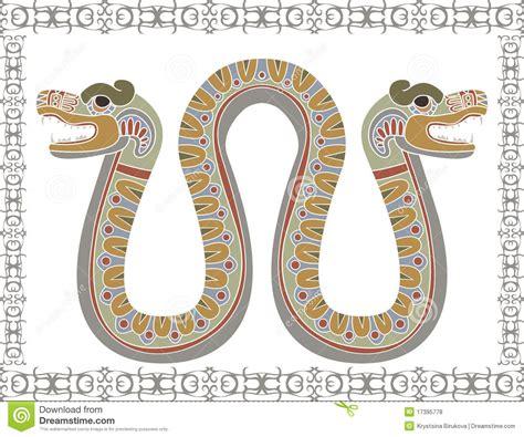 persone con due teste serpente azteco tradizionale con due teste fotografie