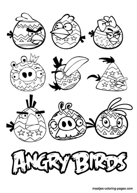 angry birds halloween coloring pages angry birds easter coloring pages