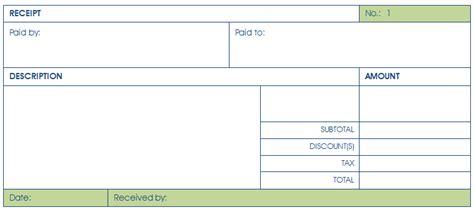 rental receipt template 36 free word excel pdf documents