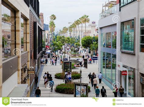 shopping home shopping area santa monica california editorial stock